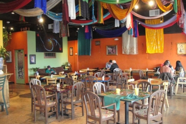 Inside Annapurna's World Vegetarian Cafe, Santa Fe